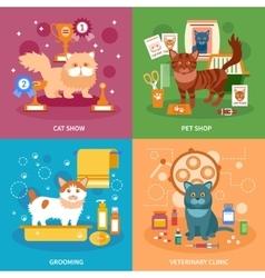 Cats concept set vector