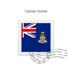 Cayman islands flag postage stamp vector