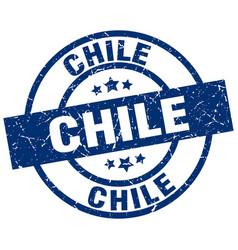 Chile blue round grunge stamp vector