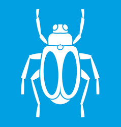 Dung beetle icon white vector