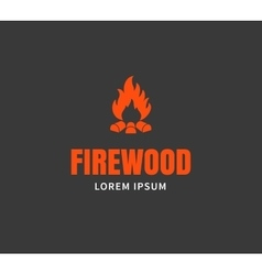 Firewood emblem template vector image vector image