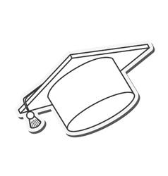 hat cloth graduation cap design vector image