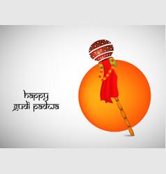 Hindu festival gudi padwa background vector