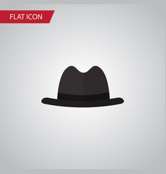 isolated fedora flat icon panama element vector image