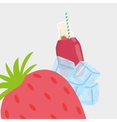 juice design glass icon drink concept vector image vector image
