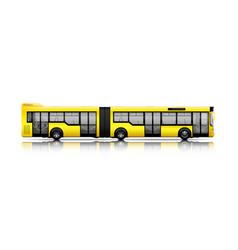 long city bus vector image vector image