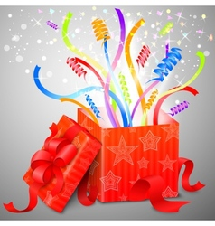 Magic surprise box vector image vector image