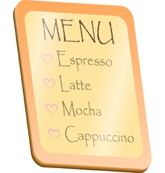 Menu board vector
