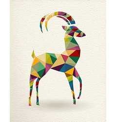 New Year of the triangle Goat 2015 card vector image vector image