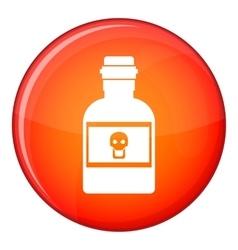 Poison bottle icon flat style vector