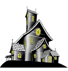 scary haunted house vector image vector image