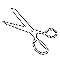 Scissors sign vector
