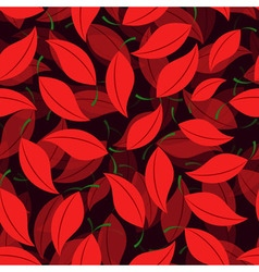 Seamless of cherry leaves vector image vector image