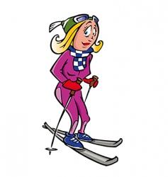 skier female vector image