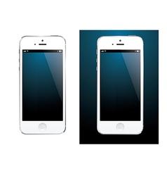 Smartphone white vector image