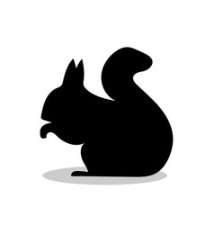 Squirrel rodent mammal black silhouette animal vector