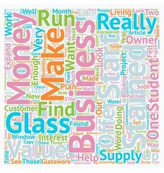 Stained Glass A2Z text background wordcloud vector image vector image
