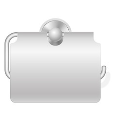 toilet paper holder 02 vector image vector image