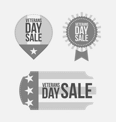 Veterans day graphic banners set vector