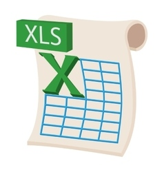 XLS icon cartoon style vector image vector image