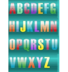 Striped artistic font vector