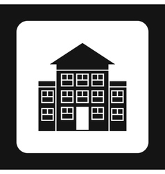 Three storey house icon simple style vector
