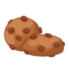 Cookie biscuit isolated vector
