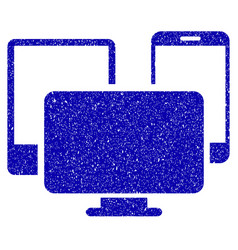 electronic devices icon grunge watermark vector image