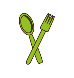 Spoon fork cutlery kitchen cooking image vector