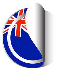 Sticker design for flag of new zealand vector