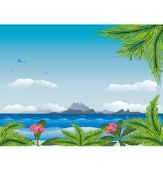 Tropical island in the ocean3 vector image