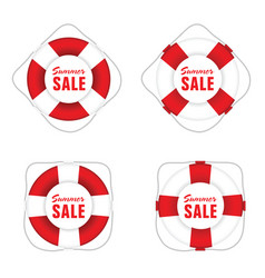 Summer sale in live saver vector