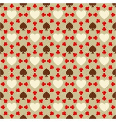 Seamless pattern with card suits vector