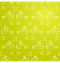 Vintage Bicycle Seamless Background vector image