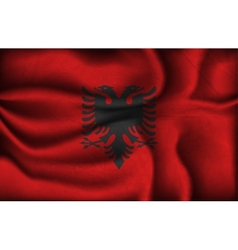 Crumpled flag of albania vector