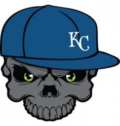 royals skull vector image