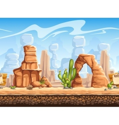Tileable horizontal background wild west set1 vector