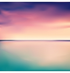 Panorama of a sunset in the sea or ocean vector