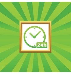24h workhours picture icon vector