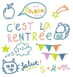 French text cest la rentree translate back to sch vector