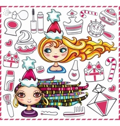 christmas sale 3 vector image