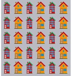 Detailed flat houses pattern vector image