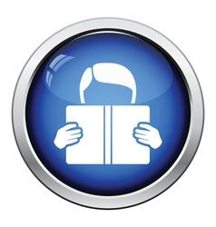 Icon of Boy reading book vector image