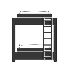 Bed icon Room design graphic vector image