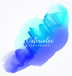 Abstract blue watercolor stain background vector