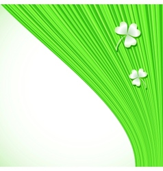 Abstract green stripes background vector