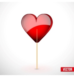 Beautiful lollipop with heart shaped love vector