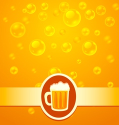 Beer bubbles vector image