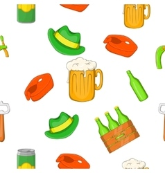 Beer festival pattern cartoon style vector