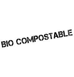 Bio compostable rubber stamp vector